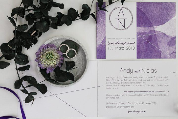 Inspirationswelt Ultraviolett Farbe des Jahres 2018 Hochzeitsfotografie Hamburg