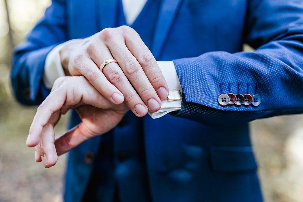 Hochzeitsfotografie Manschettenknöpfe