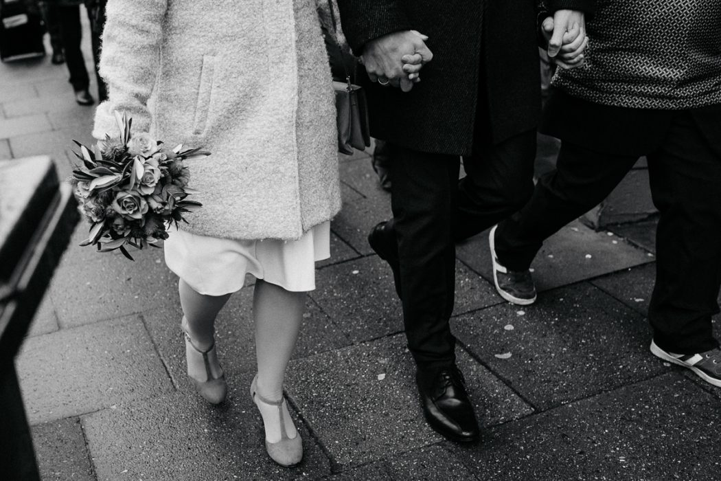 Winterhochzeit in Hamburg, Hochzeitsgesellschaft, Hochzietsreportageåç